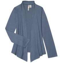 Aventura Clothing Kyle Wrap Cardigan Sweater - Open Front (For Women) in Earl Grey - Closeouts