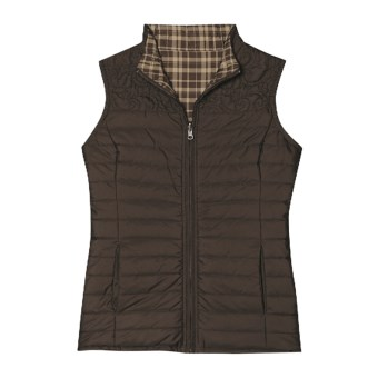 Aventura Clothing Landyn Quilted Vest - Reversible (For Women) in Espresso
