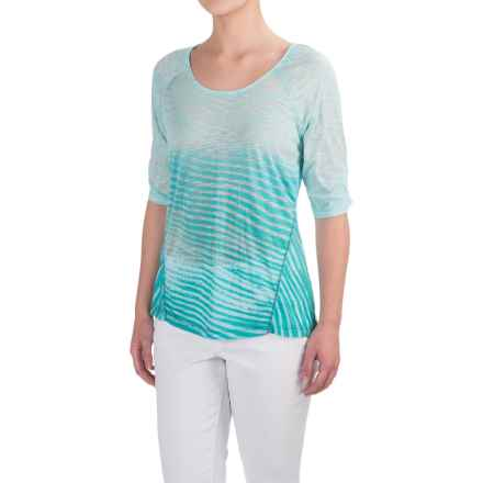 Aventura Clothing Larson Shirt - Elbow Sleeve (For Women) in Blue Turquoise - Closeouts