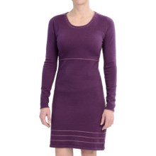 Aventura Clothing Leighton Dress - Organic Cotton, Long Sleeve (For Women) in Plum Purple - Closeouts