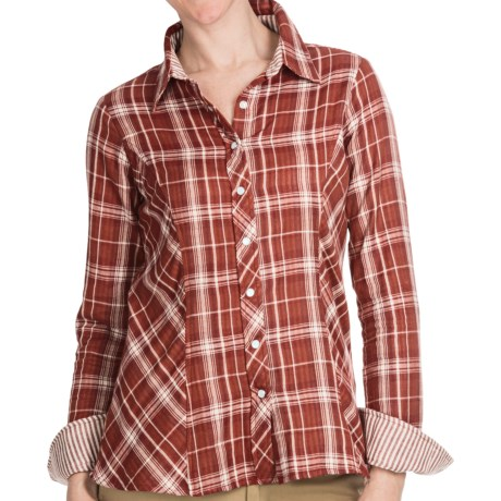 Discount clothing stores Aventura Clothing Libby Western Plaid Shirt - Snap Front, Long Sleeve (For Women)