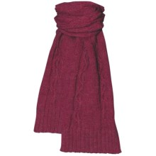 Aventura Clothing Lockhart Scarf - Cable Knit (For Women) in Claret - Closeouts
