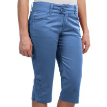 Aventura Clothing Mackenzie Capris - Organic Cotton Blend (For Women) in Blue Shadow - Closeouts
