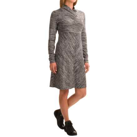 Aventura Clothing Maeve Space-Dye Dress - Long Sleeve (For Women) in Black - Closeouts