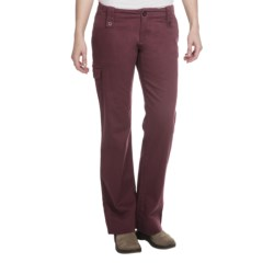 Aventura Clothing Mariah Pants - Stretch Organic Cotton (For Women) in Red Mahogany