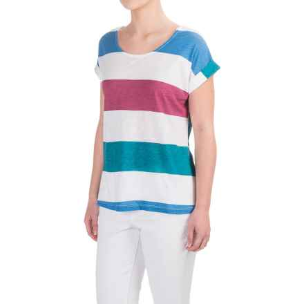 Aventura Clothing Marlowe T-Shirt - Cotton-Modal, Short Sleeve (For Women) in Blue Yonder - Closeouts