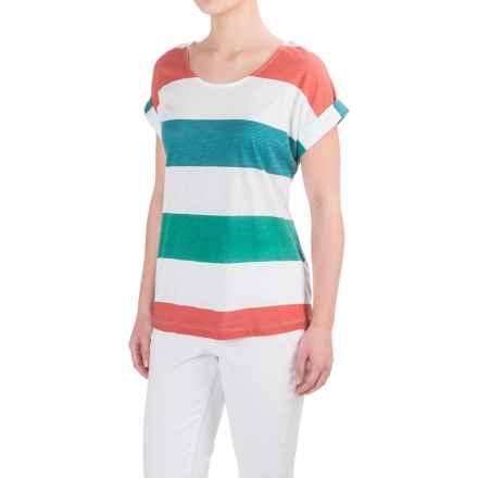 Aventura Clothing Marlowe T-Shirt - Cotton-Modal, Short Sleeve (For Women) in Bottle Green - Closeouts