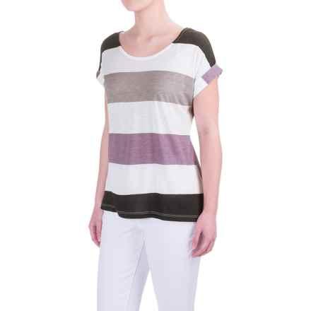 Aventura Clothing Marlowe T-Shirt - Cotton-Modal, Short Sleeve (For Women) in Grapeade - Closeouts