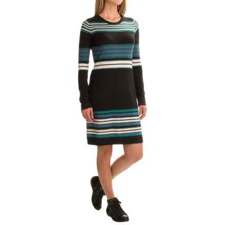 Aventura Clothing Martina Sweater Dress - Long Sleeve (For Women) in Black - Closeouts