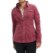Aventura Clothing Millbrae Jacket - Organic Cotton, Snap Front (For Women) in Merlot - Closeouts