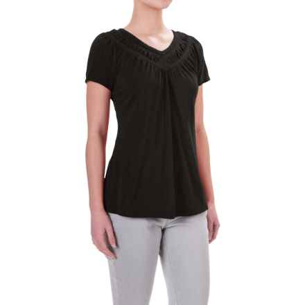 Aventura Clothing Mina Shirt - Organic Cotton-Modal, Short Sleeve (For Women) in Black - Closeouts