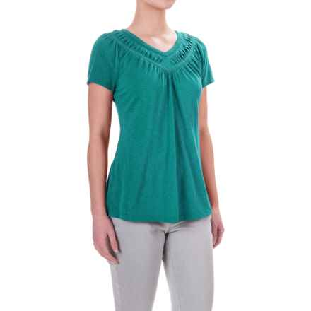 Aventura Clothing Mina Shirt - Organic Cotton-Modal, Short Sleeve (For Women) in Fanfare - Closeouts