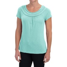 Aventura Clothing Minnie Shirt - Organic Cotton-Modal, Short Sleeve (For Women) in Blue Tint - Closeouts