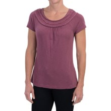Aventura Clothing Minnie Shirt - Organic Cotton-Modal, Short Sleeve (For Women) in Damson - Closeouts