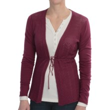 Aventura Clothing Missy Cardigan Sweater - Organic Cotton Blend (For Women) in Beaujolais - Closeouts