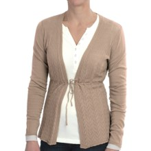 Aventura Clothing Missy Cardigan Sweater - Organic Cotton Blend (For Women) in Pebble - Closeouts
