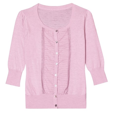 Aventura Clothing Molly Cardigan Sweater - Elbow Sleeve (For Women) in Lilac Snow