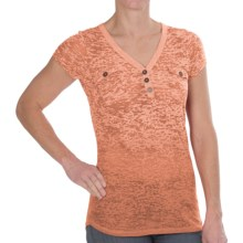 Aventura Clothing Naomi Henley Shirt - Short Sleeve (For Women) in Flamingo - Closeouts