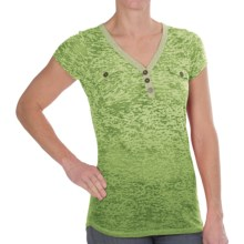 Aventura Clothing Naomi Henley Shirt - Short Sleeve (For Women) in Spinach Green - Closeouts