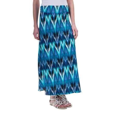 Aventura Clothing Nevis Maxi Skirt - Rayon-TENCEL® (For Women) in Mosaic Blue - Closeouts
