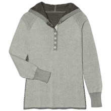 Aventura Clothing Overton Hoodie Sweater - Organic Cotton (For Women) in Icy Green - 2nds