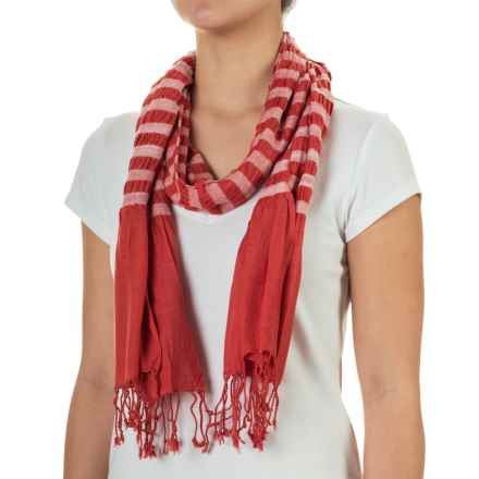 Aventura Clothing Penn Striped Scarf (For Women) in Spiced Coral - Closeouts