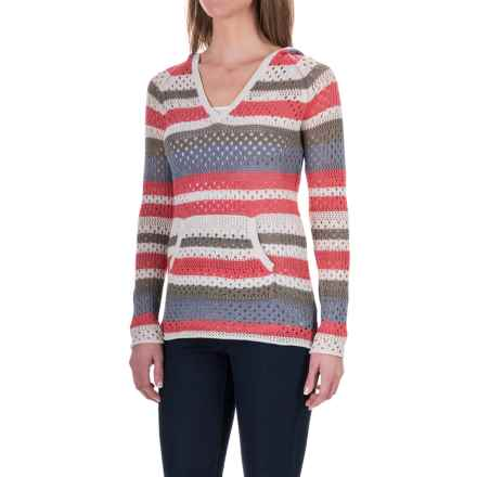 Aventura Clothing Pippa Hoodie Sweater - Organic Cotton Blend (For Women) in Spiced Coral - Closeouts