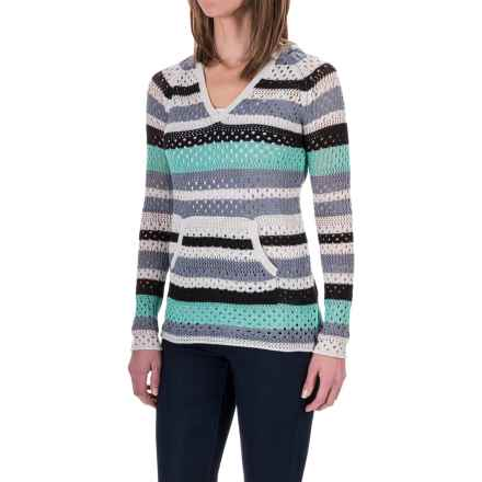 Aventura Clothing Pippa Hoodie Sweater - Organic Cotton Blend (For Women) in Tradewinds - Closeouts