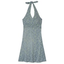 Aventura Clothing Ryland Halter Dress - Stretch Organic Cotton, Strapless (For Women) in Iceburg Green - Closeouts