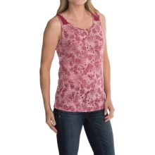 Aventura Clothing Saphira Burnout Tank Top (For Women) in Slate Rose - Closeouts