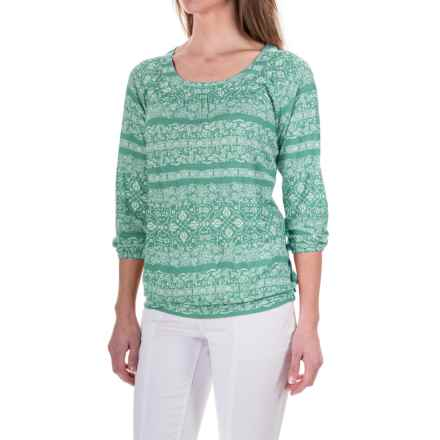 Aventura Clothing Savannah Shirt - Rayon, 3/4 Sleeve (For Women) in Holiday - Closeouts
