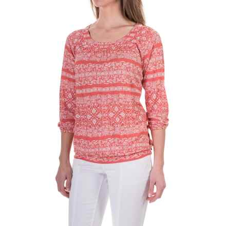 Aventura Clothing Savannah Shirt - Rayon, 3/4 Sleeve (For Women) in Spiced Coral - Closeouts