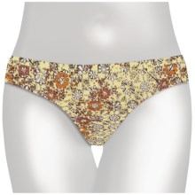 Aventura Clothing Scattered Daisies Bikini Swimsuit Bottoms - Recycled Materials (For Women) in Retro Yellow - Closeouts