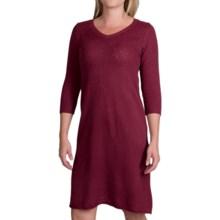 Aventura Clothing Serena Dress - 3/4 Sleeve (For Women) in Merlot - Closeouts