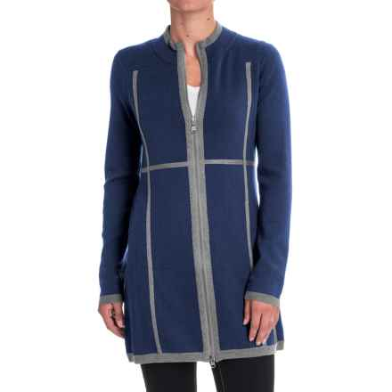 Aventura Clothing Sloan Zip-Front Tunic Sweater - Merino Wool (For Women) in Blue Indigo - Closeouts