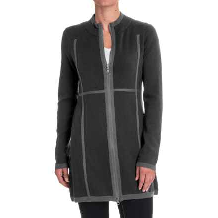 Aventura Clothing Sloan Zip-Front Tunic Sweater - Merino Wool (For Women) in Charcoal - Closeouts