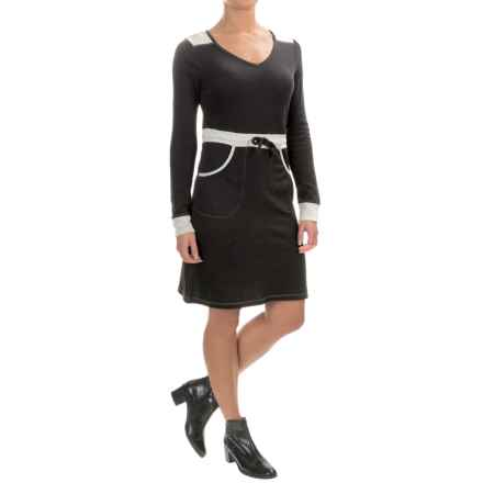 Aventura Clothing Spectra Knit Dress - Long Sleeve (For Women) in Black - Closeouts