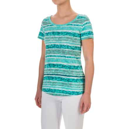 Aventura Clothing Sunnyvale T-Shirt - Organic Cotton-Modal, Short Sleeve (For Women) in Blue Turquoise - Closeouts