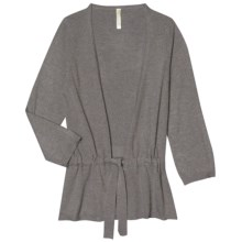 Aventura Clothing Tandy Cardigan Sweater - Waist Tie, Open Front (For Women) in Steeple Grey - Closeouts