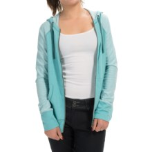 Aventura Clothing Tate Hoodie - Organic Cotton Blend, Zip Front (For Women) in Aqua Sea - Closeouts