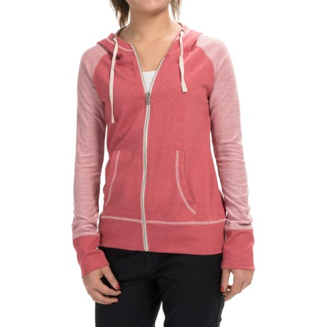 Aventura Clothing Tate Hoodie Organic Cotton Blend, Zip Front (For Women)