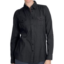 Aventura Clothing Tatum Shirt - Button Front, Roll-Up Long Sleeve (For Women) in Black - Closeouts
