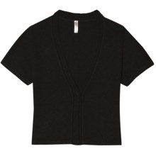 Aventura Clothing Tori Shrug - Short Sleeve (For Women) in Black - Closeouts