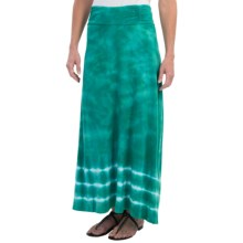 Aventura Clothing Tyra Maxi Skirt - Organic Cotton-Modal, Tie-Dye (For Women) in Alhambra Green - Closeouts