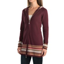 Aventura Clothing Upton Sweater - Organic Cotton, Zip Front (For Women) in Winetasting - Closeouts