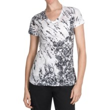 Aventura Clothing V-Neck Burnout T-Shirt - Short Sleeve (For Women) in Wren Camo - Closeouts