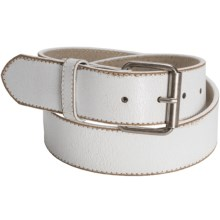 Aventura Clothing Vintage Crackle Leather Belt (For Women) in White - Closeouts