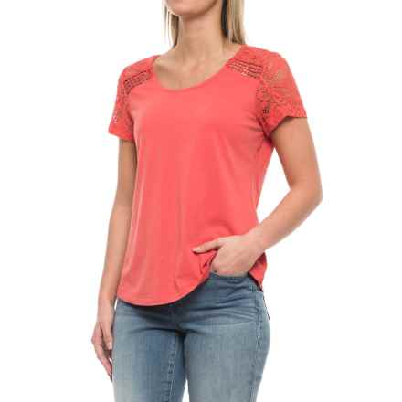 Aventura Clothing Wyatt Shirt - Organic Cotton-Modal, Short Sleeve (For Women) in Spiced Coral - Closeouts