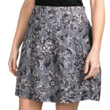 Aventura Clothing Yardley Skirt - Organic Cotton Voile (For Women) in Earl Grey - Closeouts