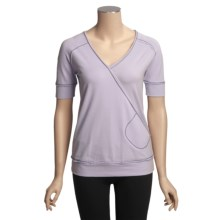 Aventura Clothing Zen Wrap Shirt - Short Sleeve (For Women) in Orchid - Closeouts
